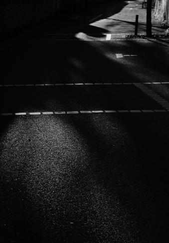 Sur la route, point de fuite
